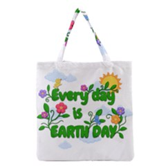 Earth Day Grocery Tote Bag by Valentinaart