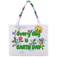 Earth Day Mini Tote Bag by Valentinaart