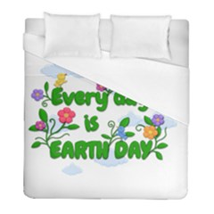 Earth Day Duvet Cover (full/ Double Size) by Valentinaart