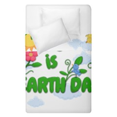 Earth Day Duvet Cover Double Side (single Size) by Valentinaart