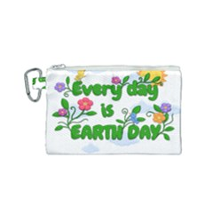 Earth Day Canvas Cosmetic Bag (small) by Valentinaart