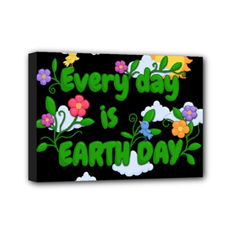 Earth Day Mini Canvas 7  X 5  by Valentinaart