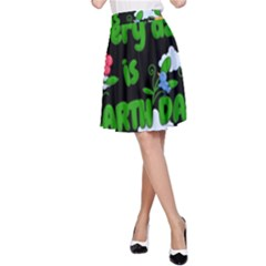 Earth Day A-line Skirt by Valentinaart