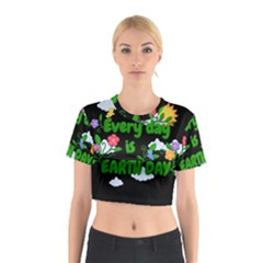 Earth Day Cotton Crop Top
