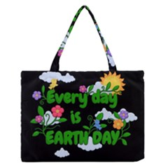 Earth Day Zipper Medium Tote Bag by Valentinaart