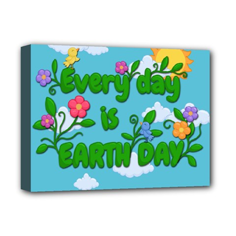 Earth Day Deluxe Canvas 16  X 12   by Valentinaart