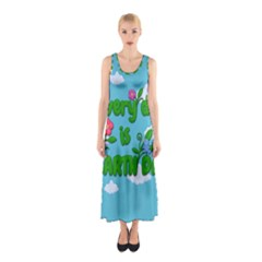 Earth Day Sleeveless Maxi Dress by Valentinaart