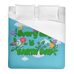 Earth Day Duvet Cover (full/ Double Size)
