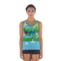 Earth Day Sport Tank Top  by Valentinaart