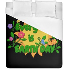 Earth Day Duvet Cover (california King Size) by Valentinaart