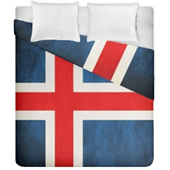 Iceland Flag Duvet Cover Double Side (california King Size) by Valentinaart