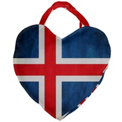 Iceland Flag Giant Heart Shaped Tote by Valentinaart