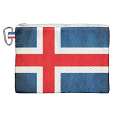Iceland Flag Canvas Cosmetic Bag (xl) by Valentinaart