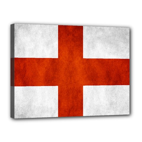 England Flag Canvas 16  X 12  by Valentinaart