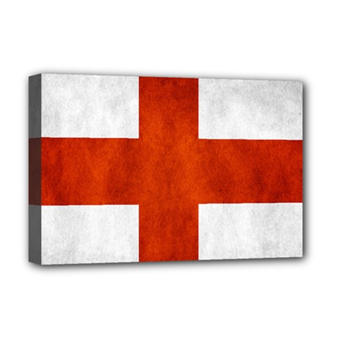 England Flag Deluxe Canvas 18  X 12   by Valentinaart