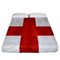 England Flag Fitted Sheet (california King Size) by Valentinaart
