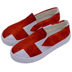 England Flag Kids  Canvas Slip Ons by Valentinaart