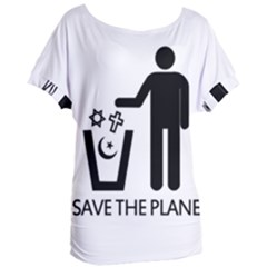 Save The Planet   Religions  Women s Oversized Tee