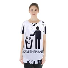 Save The Planet   Religions  Skirt Hem Sports Top