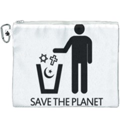 Save The Planet   Religions  Canvas Cosmetic Bag (xxxl) by Valentinaart
