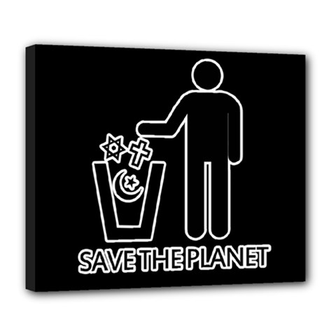 Save The Planet   Religions  Deluxe Canvas 24  X 20