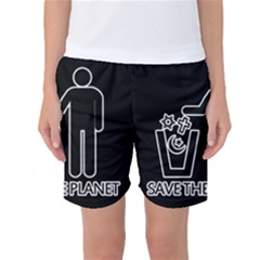 Save The Planet   Religions  Women s Basketball Shorts