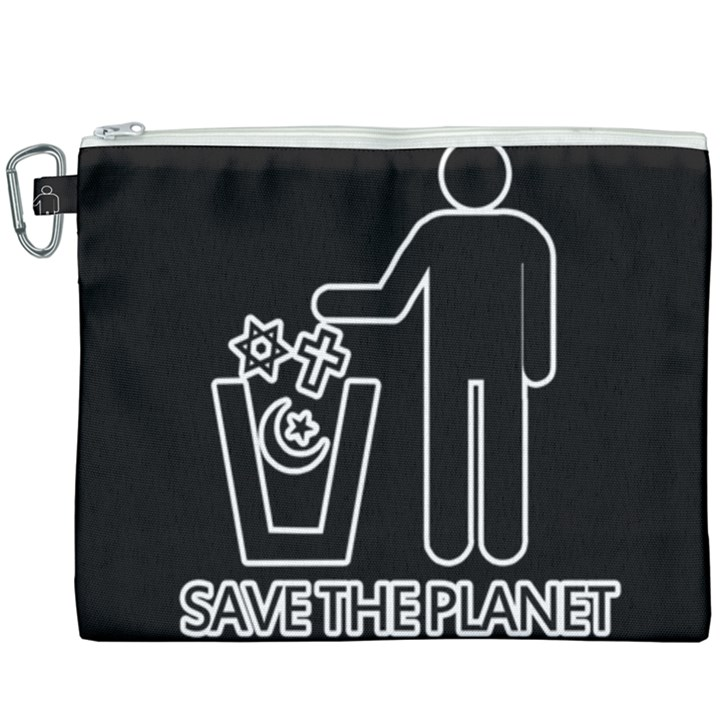 Save The Planet - Religions  Canvas Cosmetic Bag (XXXL)