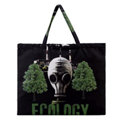 Ecology Zipper Large Tote Bag