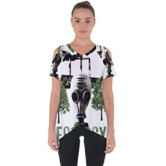 Ecology Cut Out Side Drop Tee