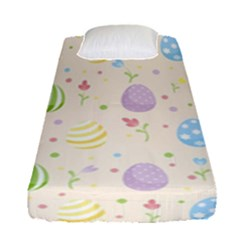 Easter Pattern Fitted Sheet (single Size) by Valentinaart