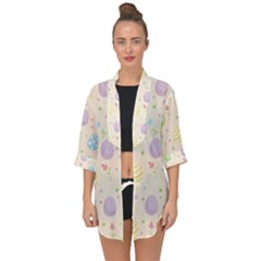 Easter Pattern Open Front Chiffon Kimono by Valentinaart