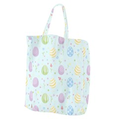 Easter Pattern Giant Grocery Zipper Tote by Valentinaart