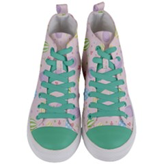 Easter Pattern Women s Mid Top Canvas Sneakers