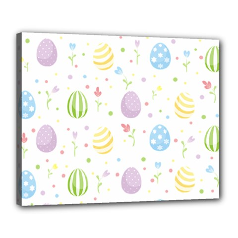 Easter Pattern Canvas 20  X 16  by Valentinaart