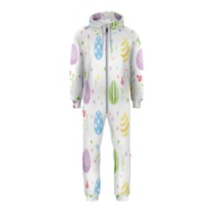 Easter Pattern Hooded Jumpsuit (kids)
