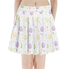 Easter Pattern Pleated Mini Skirt