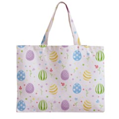 Easter Pattern Zipper Medium Tote Bag by Valentinaart
