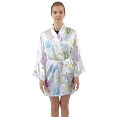 Easter Pattern Long Sleeve Kimono Robe by Valentinaart