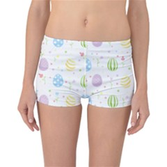 Easter Pattern Reversible Boyleg Bikini Bottoms by Valentinaart