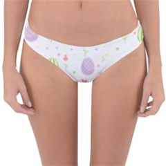 Easter Pattern Reversible Hipster Bikini Bottoms by Valentinaart