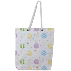 Easter Pattern Full Print Rope Handle Tote (large) by Valentinaart