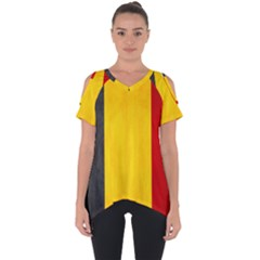 Belgium Flag Cut Out Side Drop Tee
