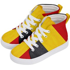 Belgium Flag Kid s Hi Top Skate Sneakers by Valentinaart