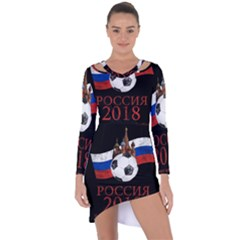 Russia Football World Cup Asymmetric Cut Out Shift Dress