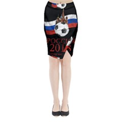 Russia Football World Cup Midi Wrap Pencil Skirt by Valentinaart