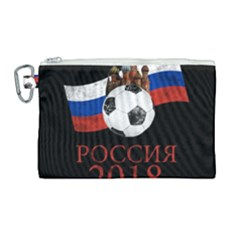 Russia Football World Cup Canvas Cosmetic Bag (large) by Valentinaart