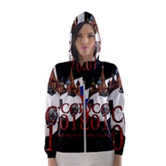 Russia Football World Cup Hooded Wind Breaker (women) by Valentinaart