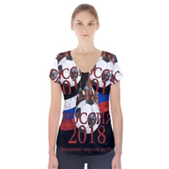 Russia Football World Cup Short Sleeve Front Detail Top by Valentinaart