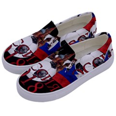Russia Football World Cup Kids  Canvas Slip Ons by Valentinaart
