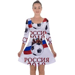 Russia Football World Cup Quarter Sleeve Skater Dress